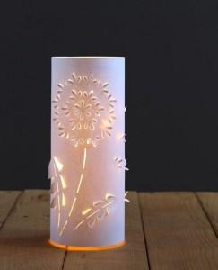 reciklirana čarobna namizna svetilka