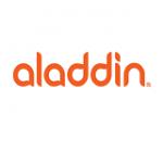 Aladdin Steklenička aladdin aveo 0.60l rdeča s potiskom
