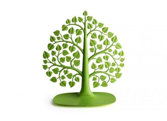 Stojalo in podstavek za nakit drevo - zeleno