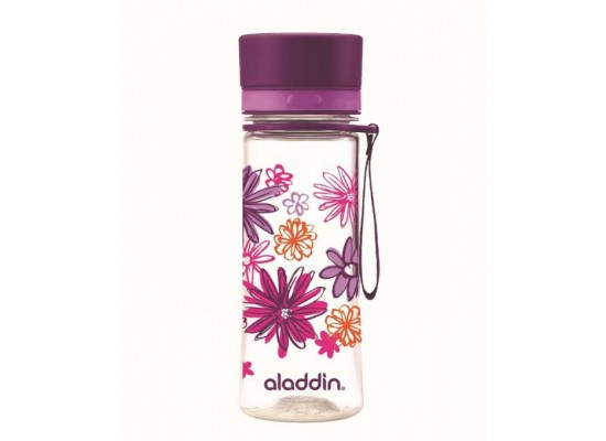 Steklenička aladdin aveo 0.35l, vijolična s potiskom