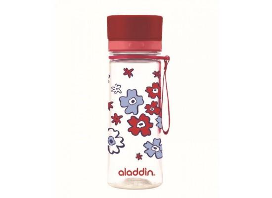 Steklenička aladdin aveo 0.35l, rdeča s potiskom