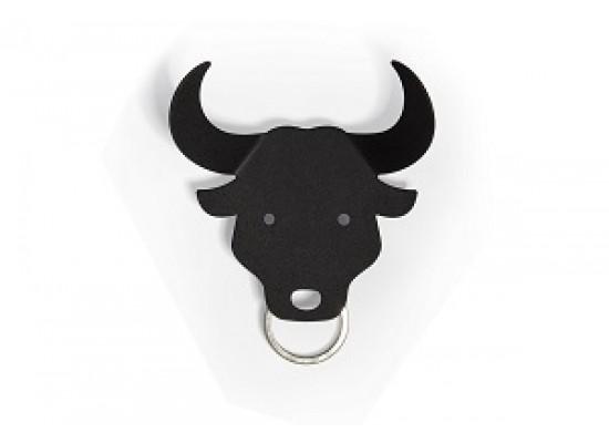 Obesek in obešalnik za ključe in oblačila bikec - črn