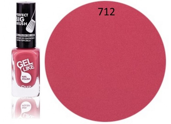 Quiz Gel lak za nohte svetlo roza 712