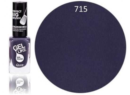 Quiz Gel lak za nohte  temno vijoličen 715