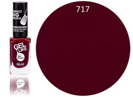 Quiz Gel lak za nohte  temno rdeč 717