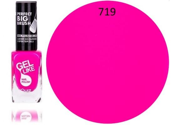 Quiz Gel lak za nohte neonsko roza 719