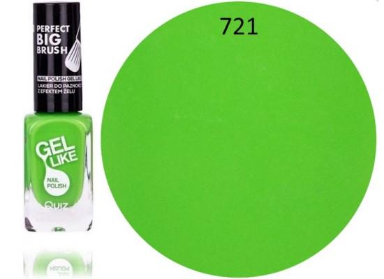 Quiz Gel lak za nohte neonsko zelen 721