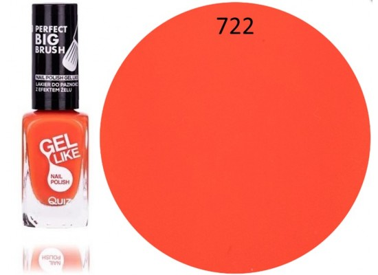 Quiz Gel lak za nohte neonsko oranžen 722