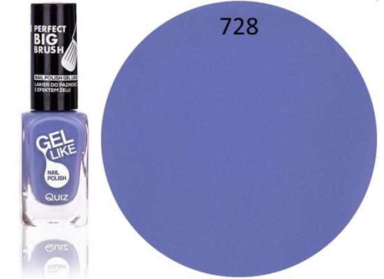 Quiz Gel lak za nohte  pastelno moder 728