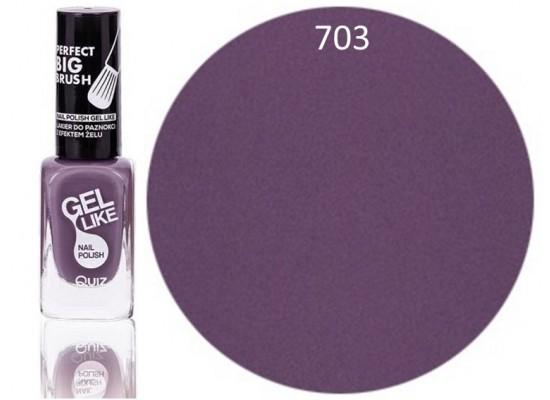 Quiz Gel lak za nohte  pastelno vijoličen - svetel 703