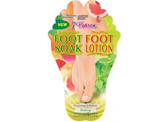 Montagne Jeunesse duo negovalna maska za stopala - Foot Soak/Foot Lotion