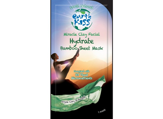 Montagne Jeunesse negovalna maska - Earth Kiss Miracle Clay Facial Hydrate Bamboo Sheet Mask