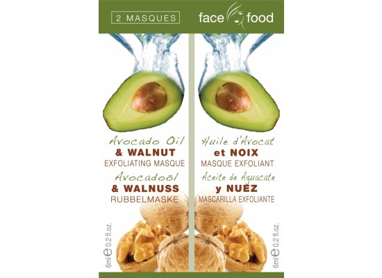 Montagne Jeunesse negovalna maska - Face Food Avocado Oil & Walnut