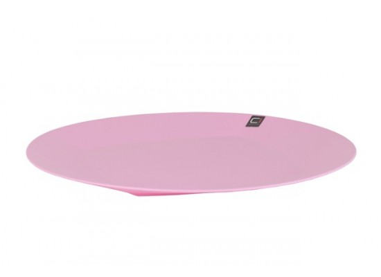 Krožnik pastelno roza