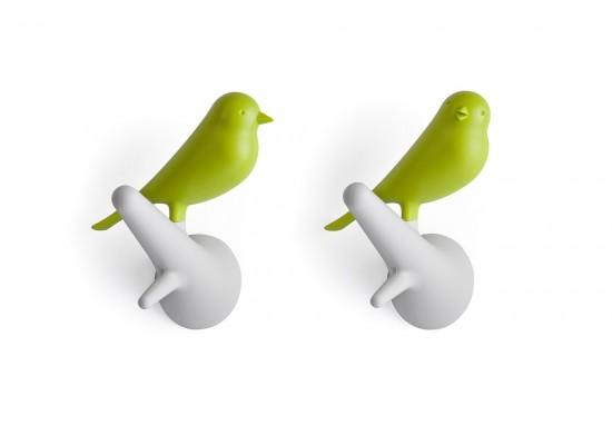 Obešalnik za oblačila vrabec - belo zelen