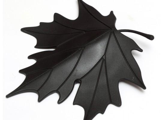 Stoper za vrata list - črn