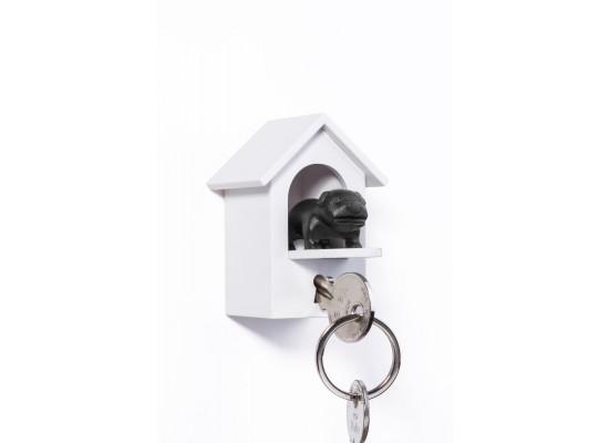 Obesek in hiška za ključe pes čuvaj - črna