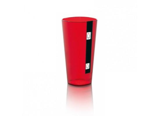 Kozarec transparentno rdeč 4dcl