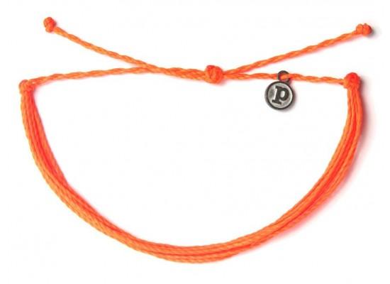 Zapestnica solid - neonsko oranžna
