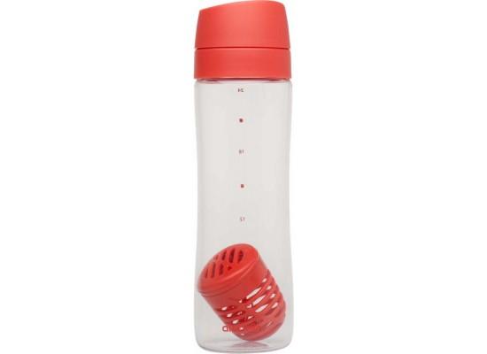 Steklenička za vodo infuse s filtrom za sadje in zelišča 0.70l tomato, rdeča