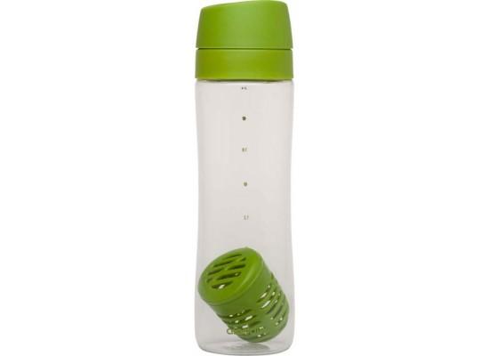 Steklenička za vodo infuse s filtrom za sadje in zelišča 0.70l fern, zelena