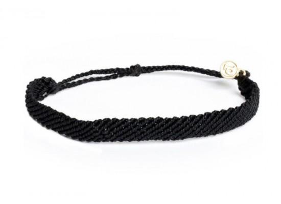 Zapestnica flat pletena - črna