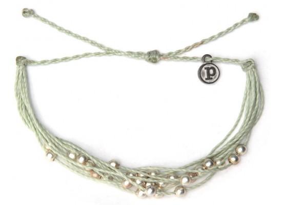 Zapestnica platinum - minty zelena