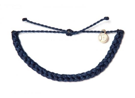 Zapestnica pletena - indigo modra