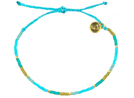 Zapestnica seed bead - modra plimovanje