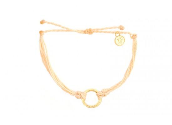Zapestnica zlata krog-krem