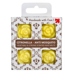 4 dišeči voski v darilni škatlici - Citronela