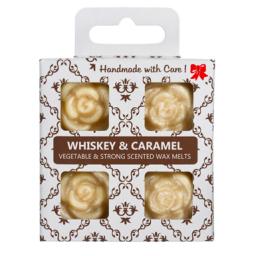 4 dišeči voski v darilni škatlici - Whiskey-Karamela