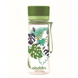 Steklenička aladdin aveo 0.35l zelena s potiskom