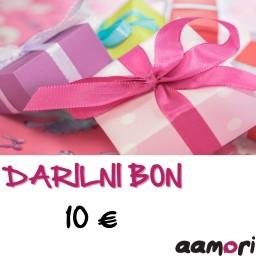 Darilni bon AAMORI v vrednosti 10€