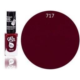Gel Like lak za nohte temno rdeč 717