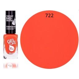 Gel Like lak za nohte neonsko oranžen 722