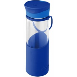 Steklenička Aladdin Enjoy 0,55l steklena, modra
