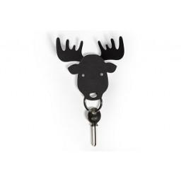 Obesek in obešalnik za ključe in oblačila los - črn