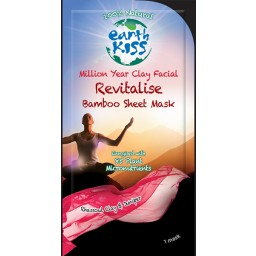 Negovalna maska za obraz - Earth Kiss Million Year Clay Facial Revitalis Bamboo Sheet Mask