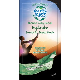 Negovalna maska za obraz - Earth Kiss Miracle Clay Facial Hydrate Bamboo Sheet Mask