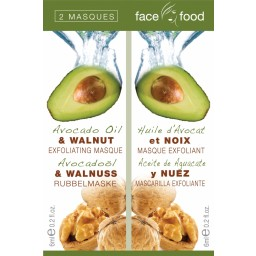 Negovalna maska za obraz - Face Food Avocado Oil & Walnut