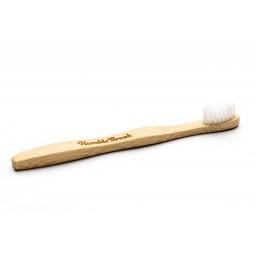 Eko zobna ščetka bambus otroška - bela