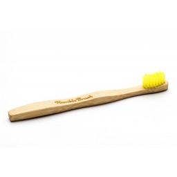 Eko zobna ščetka bambus otroška - rumena