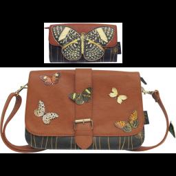 Paket torbica in denarnice Bohemia metulj