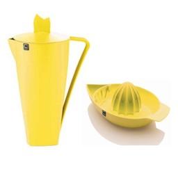 Paket VRČ S POKROVOM RUMEN 1,5L + ožemalnik za citruse rumen
