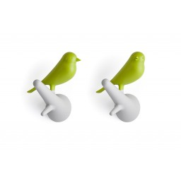 Obešalnik za oblačila vrabec - belo zelen (2 kosa)