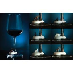 Označevalci kozarcev za vino - polarne živali (6 kos)
