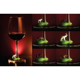 Označevalci kozarcev za vino - divje živali (6 kos)