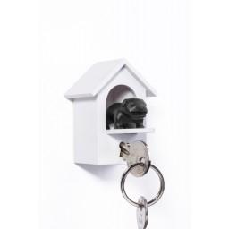 Obesek in hiška za ključe pes čuvaj – črna