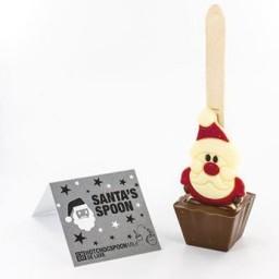 Vroča čokolada na žlički s figurico Božička